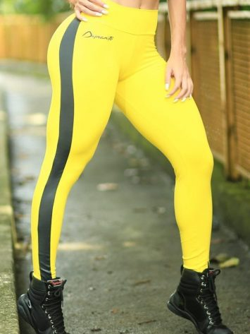 DYNAMITE BRAZIL Leggings Belaz – Yellow Gray