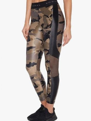 Koral Emblem Infinity High Rise Cropped Legging – Camouflage