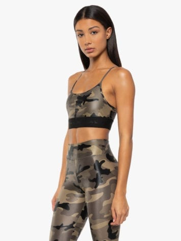 Koral Sweeper Sports Bra – Camo- Best Fit by Brazil