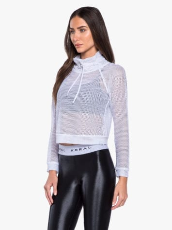 Koral Pump Open Mesh Pullover – White