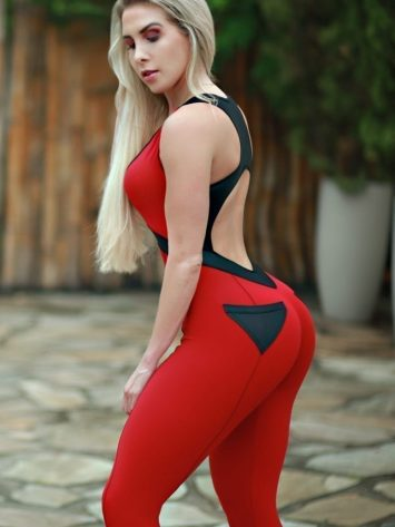 DYNAMITE Jumpsuit One-Piece ML2092 Red Bulldoozer