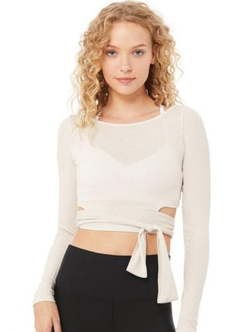 ALO Yoga Barre Long Sleeve – Bone