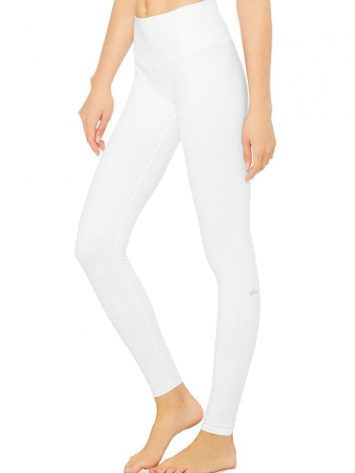 ALO Yoga High Waist Airbrush Legging – White