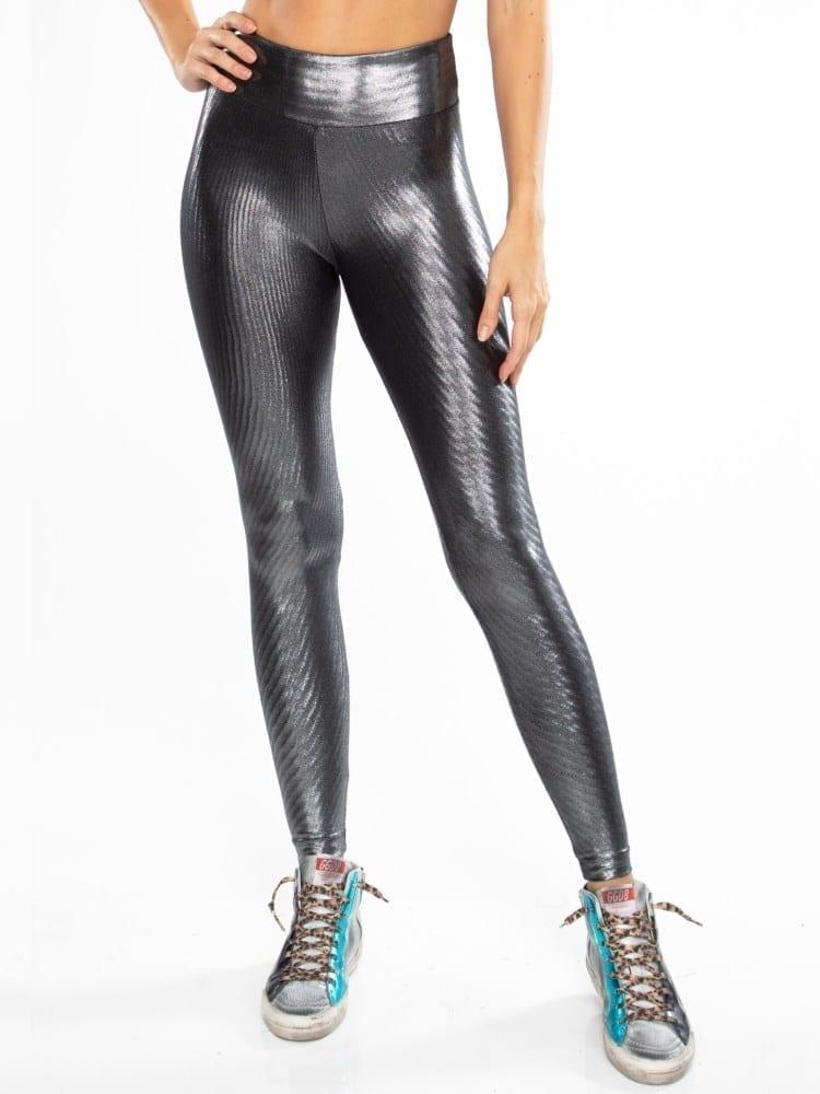 Koral Drive Glaze High Rise Legging – Silver Black