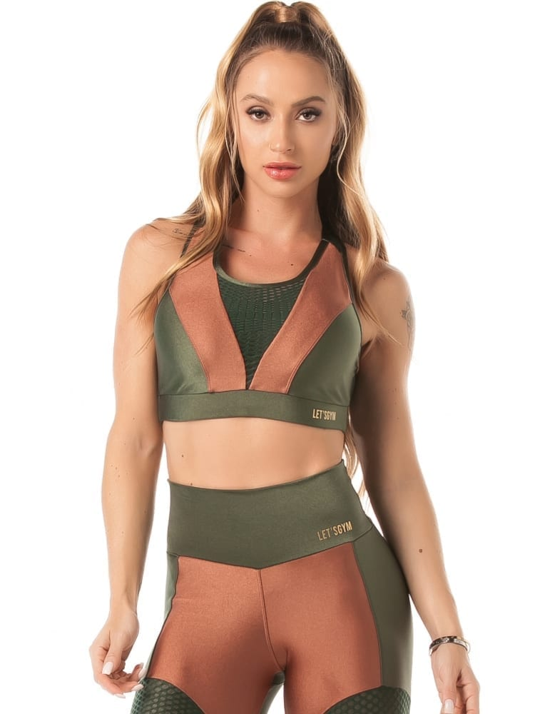 Lets Gym Airy Shine Sports Bra Top – Green