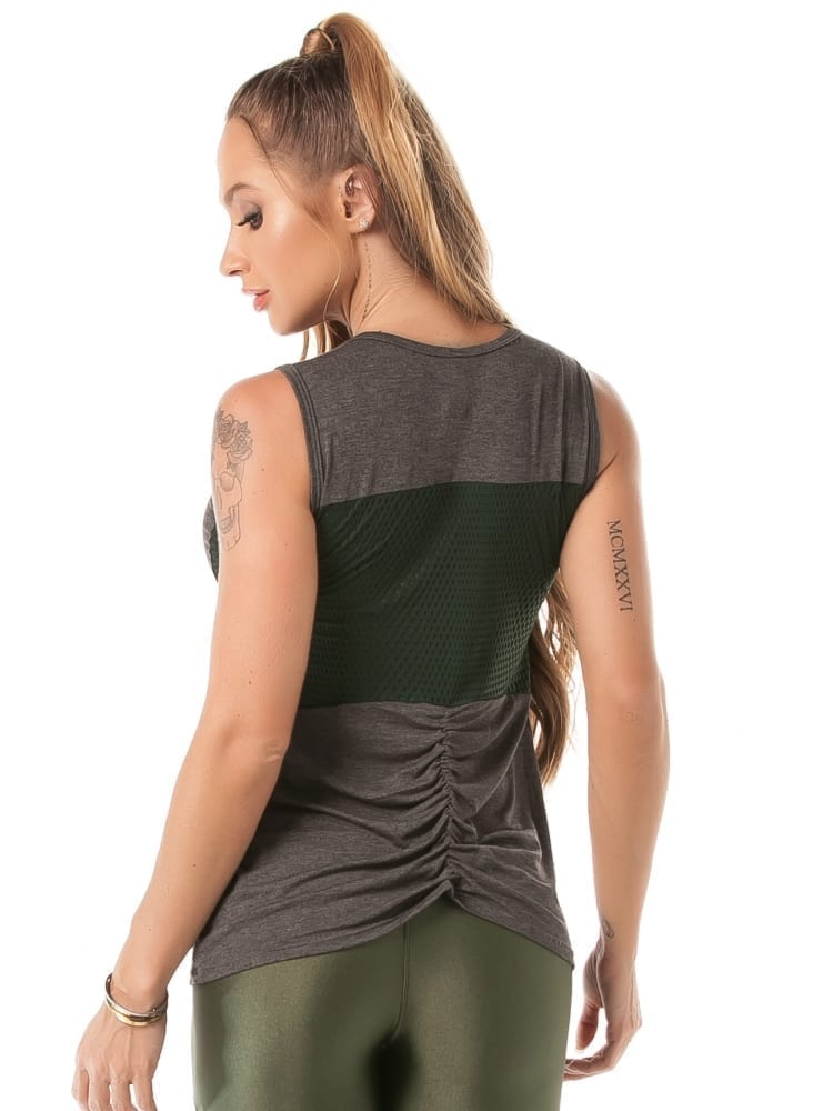 Let's Gym Fitness Blouse In Your Prime – Gray
