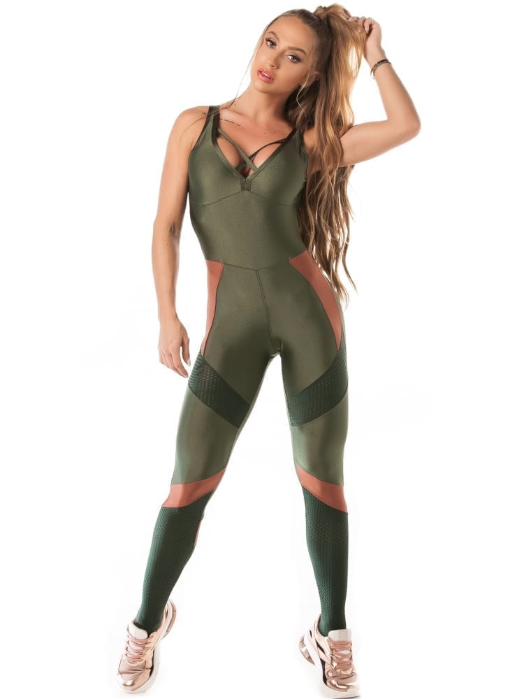 Let's Gym Airy Shine Jumpsuit – Green