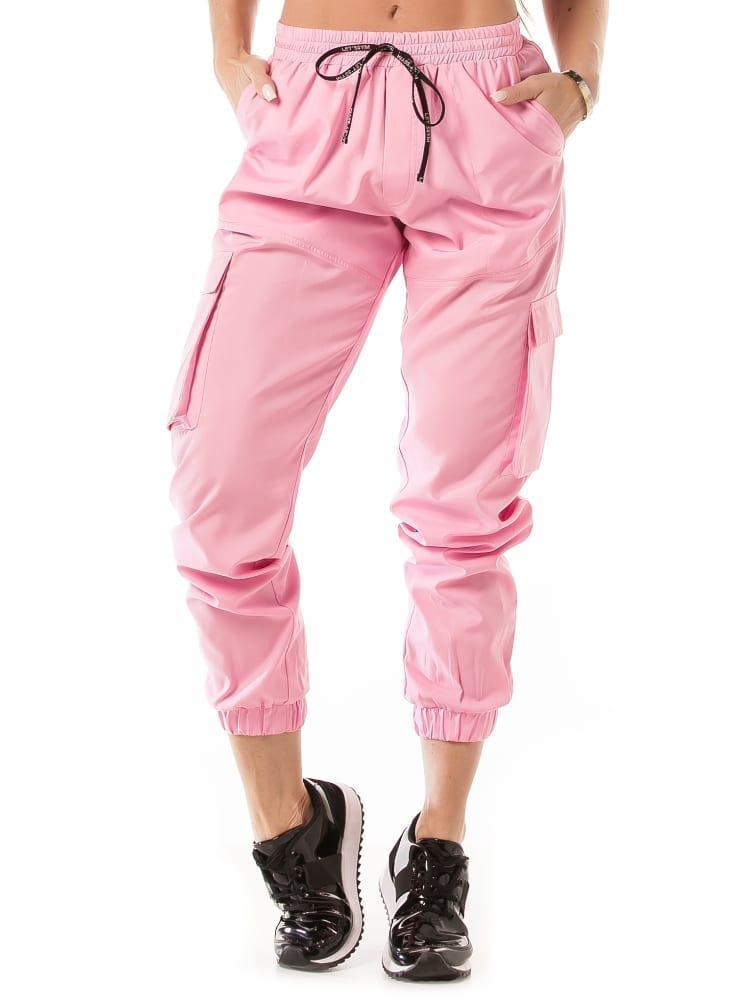 Let's Gym Jogger Cargo Style Pants – Pink