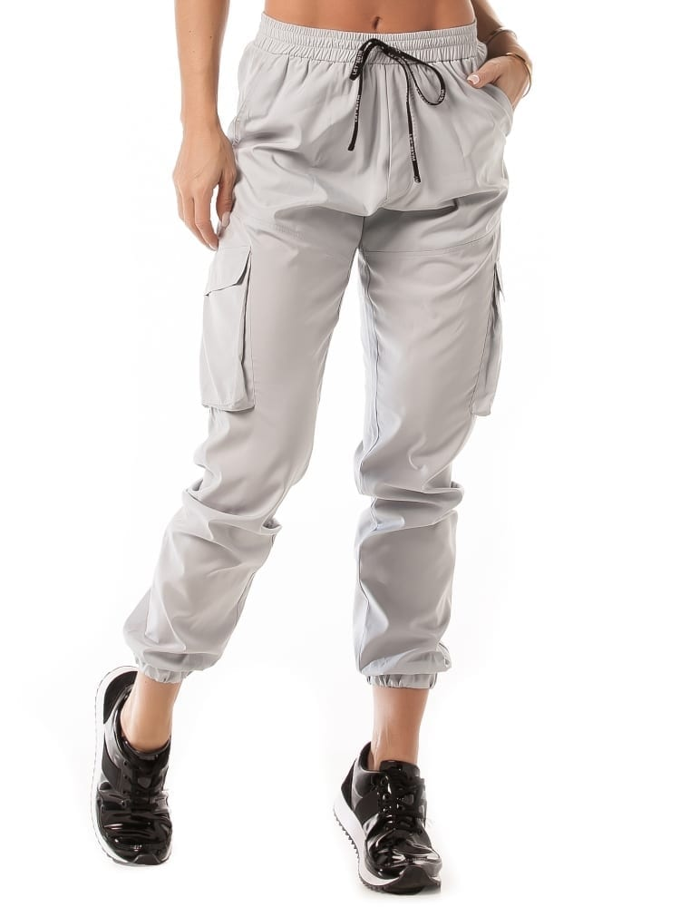 Let's Gym Jogger Cargo Style Pants – Grey