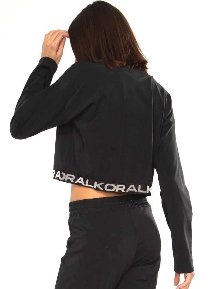 Koral Valor Blackout Crop Top - Black