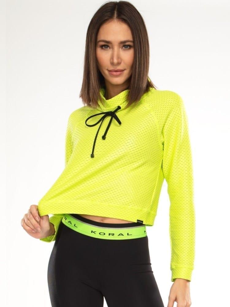 Koral Pump Netz Pullover – Neon Lime