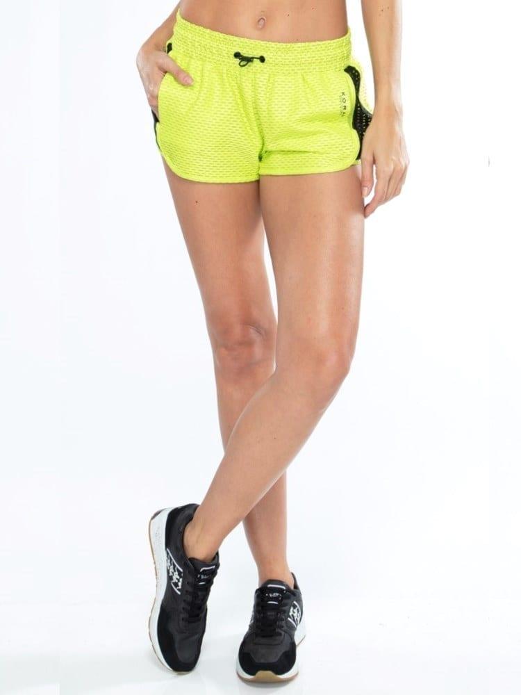 Koral Power Netz Shorts – Neon Lime
