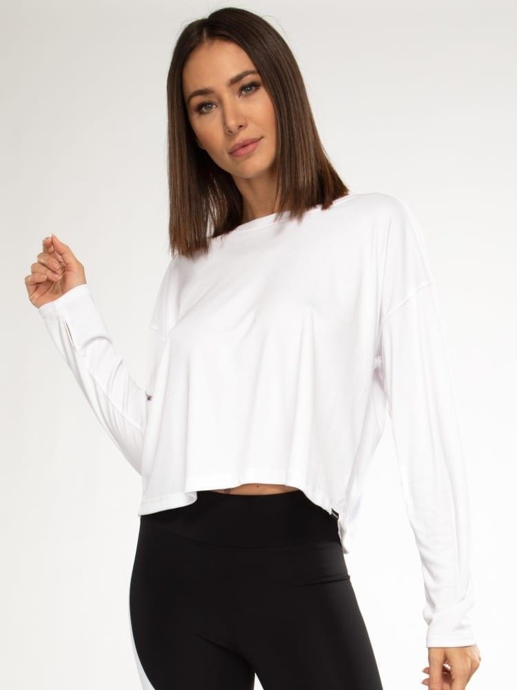 Koral Storm Marlo Long Sleeve Top – white