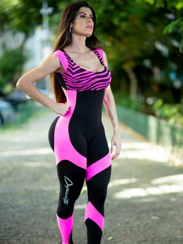 Dynamite Brazil Jumpsuit – Maxxy Pink/Black – One Piece