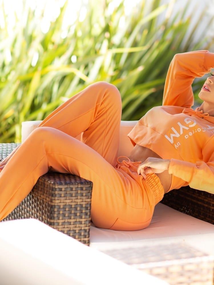 Let's Gym Jogger Sport Fleece Trend Sweats – Orange
