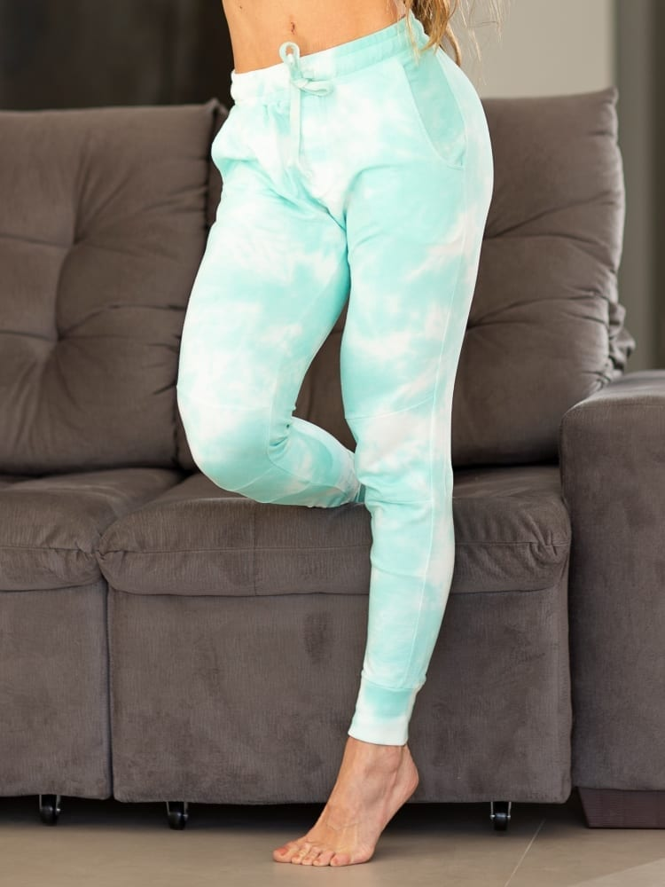 Let's Gym Jogger Tie Dye sweat pants – Turquoise