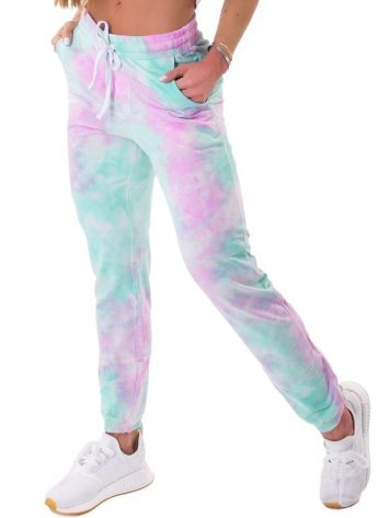 Let's Gym Fitness Jogger Duo Tie Dye – Pink/Turquoise