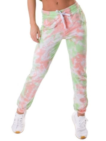 Let's Gym Fitness Jogger Duo Tie Dye – Lime/Peach