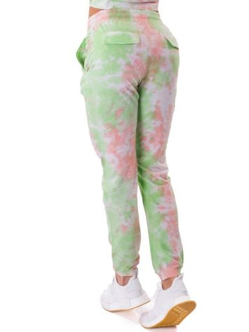 Let's Gym Fitness Jogger Duo Tie Dye - Lime/Peach