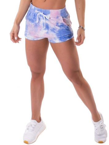 Let's Gym Fitness Shorts Tie Dye Fashion – blue/pink