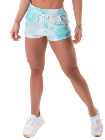 Let's Gym Fitness Shorts Tie Dye Fashion – Turquoise