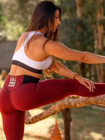 Oxyfit Activewear Leggings Girl Power – Burgandy