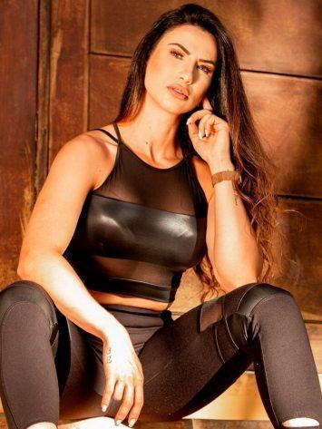 Oxyfit Activewear Sports Bra Top Deluxe – Black