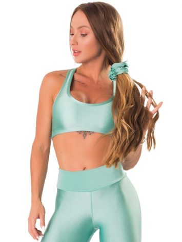 Lets Gym Fitness Electric Shine Sports Bra – Mint