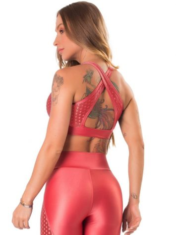 Lets Gym Fitness Athletica Air Sports Bra Top – Coral