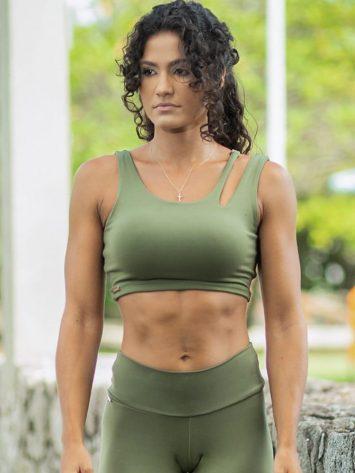 Dynamite Brazil Freedom Crop Sports Bra Top – Macaron Pink