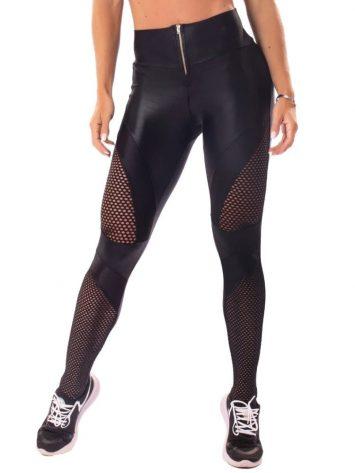 Let's Gym Fitness Audacious Woman Leggings – Black