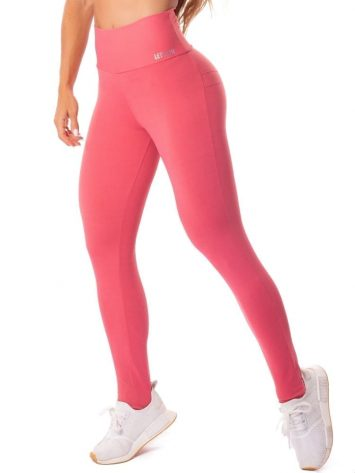 Let's Gym Fitness Energetic Push Up Leggings – Guava Pink