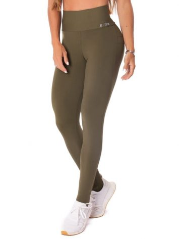 Let's Gym Fitness Energetic Push Up Leggings – Military Green