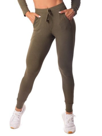 Let's Gym Fitness Calca Jogger Canelada Fluid Leggings – Military Green