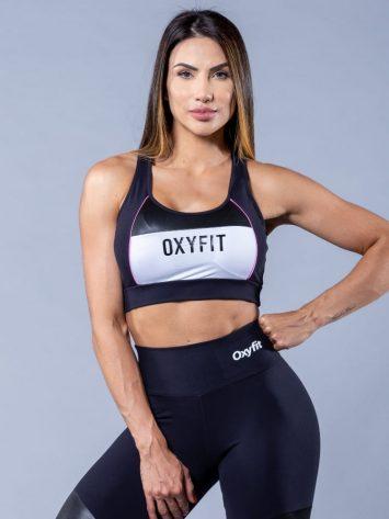 Oxyfit Sports Bra Top Speedy- black/white