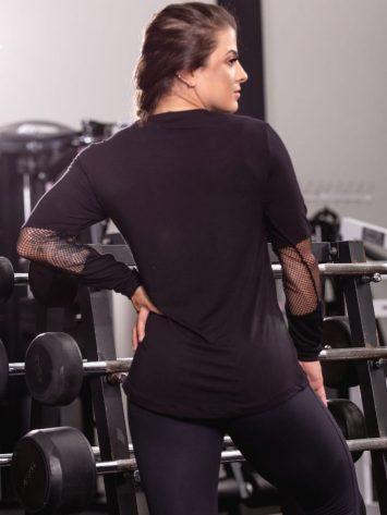 OXYFIT Activewear Blouse Free Long Sleeve - Black