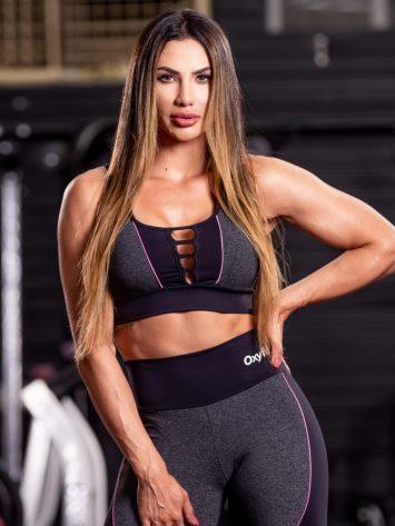 Oxyfit Sports Bra Top Share – black/grey/lollipop