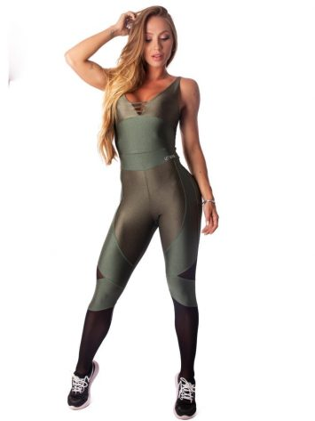 Let's Gym Fitness Enigmatic Jumpsuit – Military Green