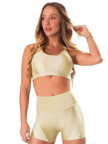 Lets Gym Fitness Active Shine Sports Bra – Lime