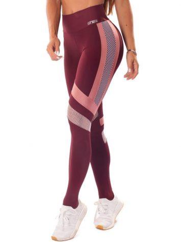 Let's Gym Fitness Maxxi Glow Leggings – Wine