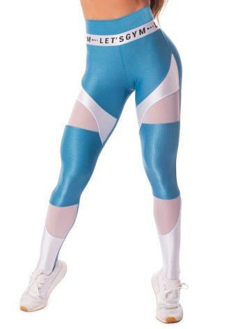 Let's Gym Fitness New Wonders Leggings – Blue