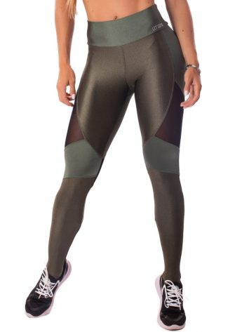 Let's Gym Fitness Enigmatic Leggings – Military Green