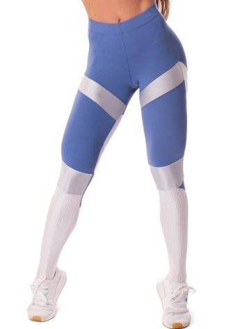 Let's Gym Fitness Glamourized Leggings – Blue