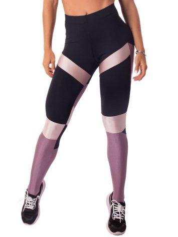 Let's Gym Fitness Glamourized Leggings – Black