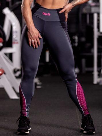 Oxyfit Leggings Version – Grey/Black/Pink