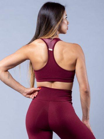Oxyfit Activewear Sports Bra Top Agile – Burgandy/Nude
