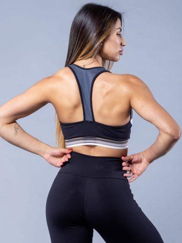 Oxyfit Activewear Sports Bra Top Springy – Black/Grey/White