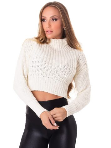 Let's Gym Fitness Cropped Trico – Off White