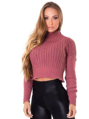 Let's Gym Fitness Cropped Trico – Blush
