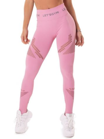 Let's Gym Fitness Seamless Essence Leggings – Pink